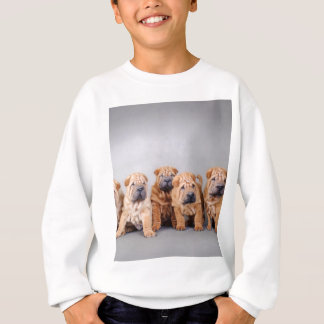 Chinese Shar pei puppies Sweatshirt