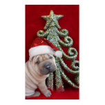 Chinese shar pei puppy business card templates