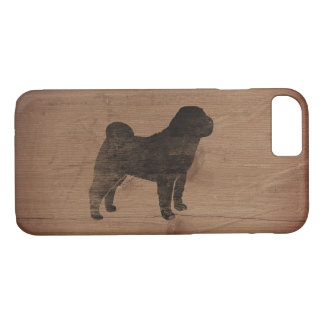 Chinese Shar Pei Silhouette Rustic iPhone 8/7 Case