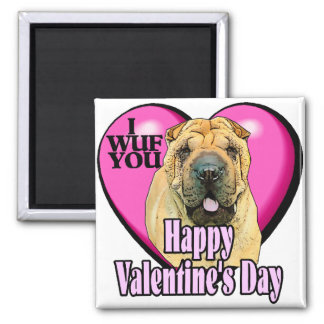 Chinese Shar-pei Valentines Day Square Magnet