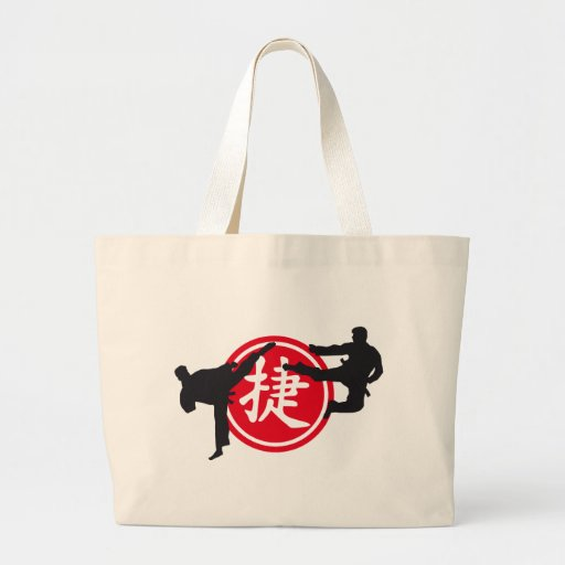 Chinese sign and carats more fighter tote bag