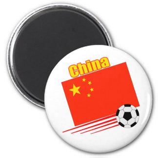 Chinese Soccer Team 6 Cm Round Magnet