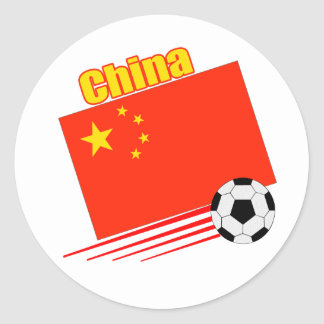 Chinese Soccer Team Classic Round Sticker