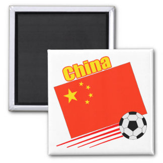 Chinese Soccer Team Square Magnet
