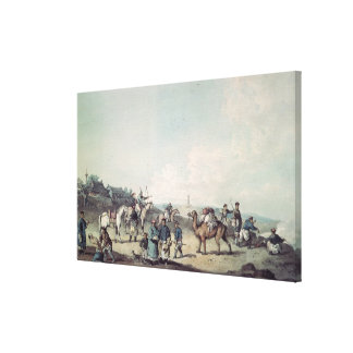 Chinese soldiers canvas print