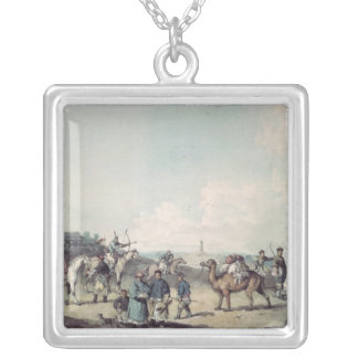 Chinese soldiers silver plated necklace