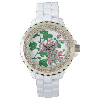 Chinese spider chrysanthemums  - soft pink watches