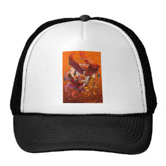 Chinese Spirit of the Phoenix w Chinese Elemental Trucker Hat