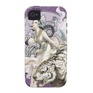 Chinese Spirit of the Tiger w Chinese Elemental Vibe iPhone 4 Case