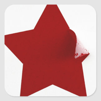 Chinese Star - quirky peeling design Square Sticker