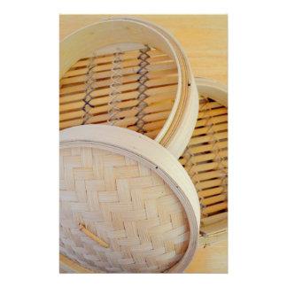 Chinese Steamer Basket Stationery Design