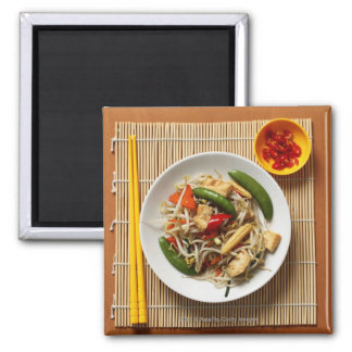 Chinese stir fried vegetables with chillies magnet