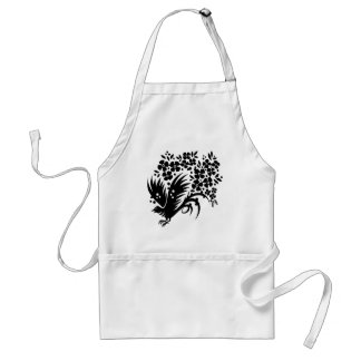 Chinese swirl floral design aprons