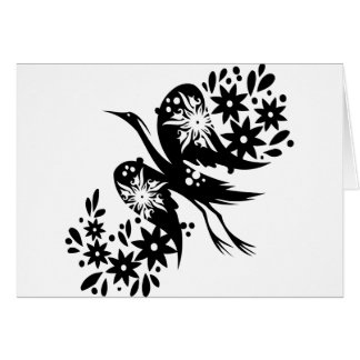 Chinese swirl floral design greeting cards