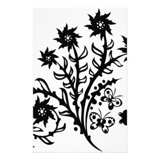 Chinese swirl floral design customised stationery