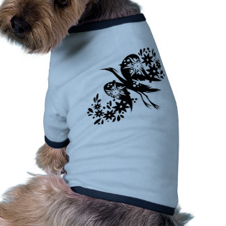 Chinese swirl floral design pet tee