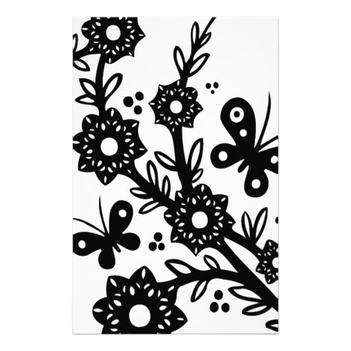 Chinese swirl floral design customized stationery