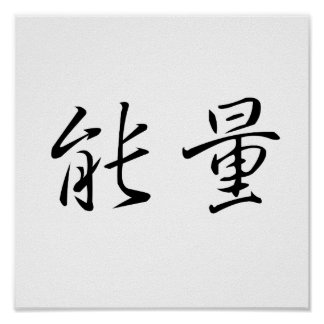 Chinese Symbol for energy Poster