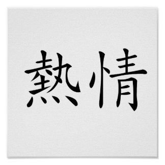 Chinese Symbol for enthusiasm Posters