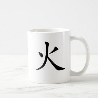 Chinese Symbol for fire Basic White Mug