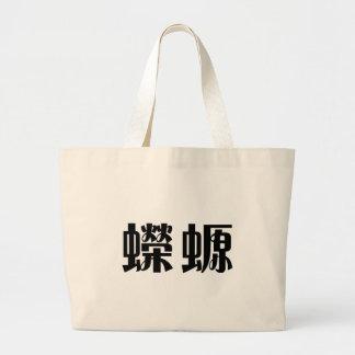 Chinese Symbol for salamander, newt Tote Bags