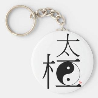 Chinese Tai Chi Ying Yang Basic Round Button Key Ring