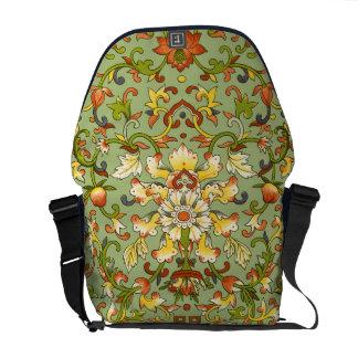 Chinese Tapestry Jade Floral Elegant Antique Messenger Bag