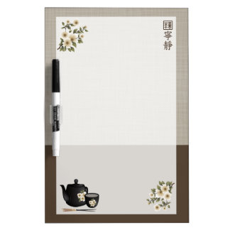 "Chinese tea ""Serenity"" Dry Erase White Board"