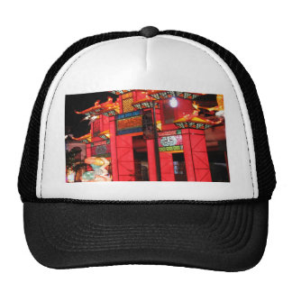 Chinese temple trucker hat