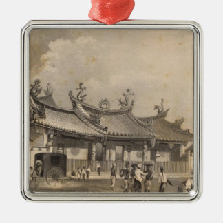 Chinese Temple, Singapore Christmas Ornament