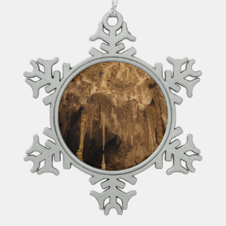 Chinese Theater Snowflake Pewter Christmas Ornament