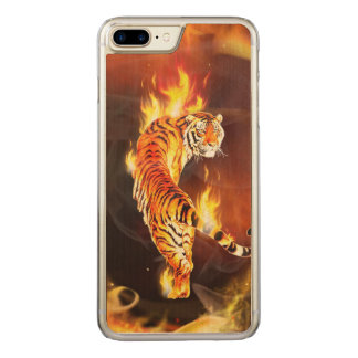 Chinese tiger painting carved iPhone 8 plus/7 plus case