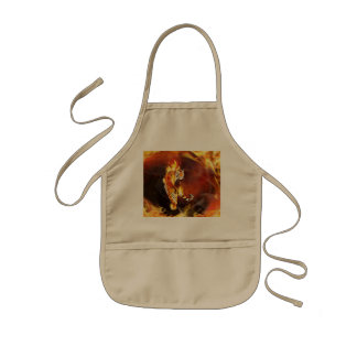 Chinese tiger painting kids apron