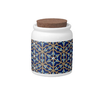 Chinese tiled floral pattern candy dishes