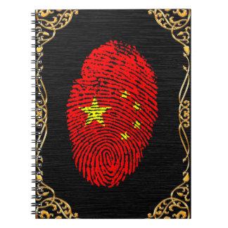 Chinese touch fingerprint flag notebooks