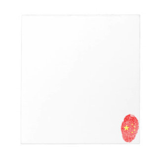 Chinese touch fingerprint flag notepad