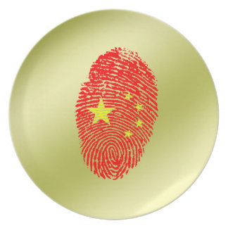 Chinese touch fingerprint flag plate