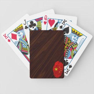 Chinese touch fingerprint flag poker deck