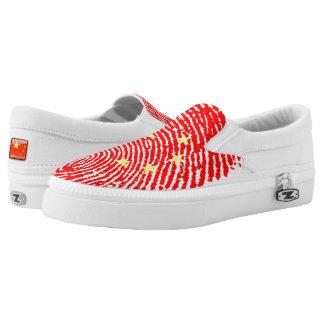 Chinese touch fingerprint flag slip on shoes