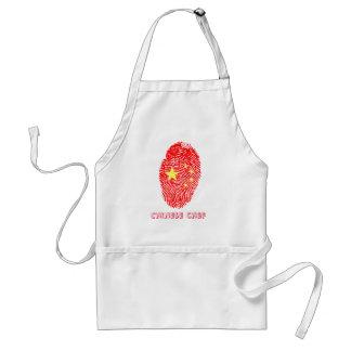 Chinese touch fingerprint flag standard apron