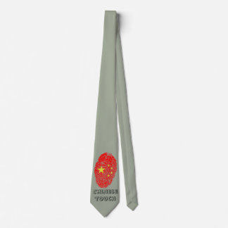 Chinese touch fingerprint flag tie