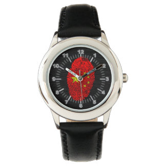 Chinese touch fingerprint flag watch