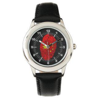 Chinese touch fingerprint flag wrist watch