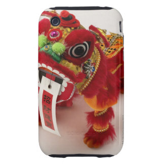 Chinese toy dragon on white background iPhone 3 tough covers