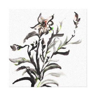 Chinese traditional ink painting flowers canvas print