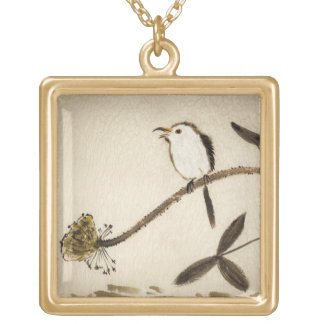 Chinese traditional ink painting with birds pendants