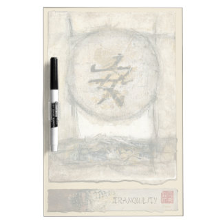 Chinese Tranquility Painting by Mauro Dry Erase Board