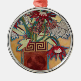 Chinese Vase and Flowers Christmas Ornament