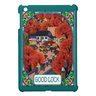 Chinese village iPad mini cover