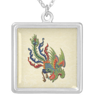 Chinese Wealthy Peacock Tattoo Necklaces